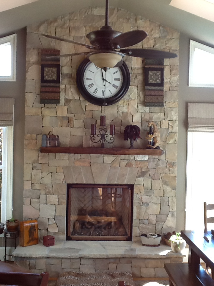 New Rock Facing and Fireplace. Much Better!