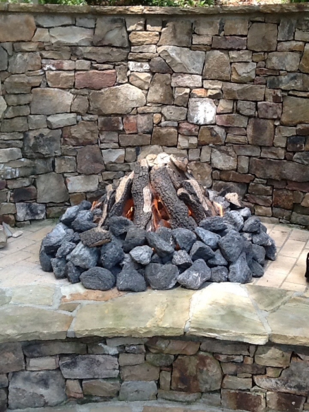 Outdoor Firepit Closeup