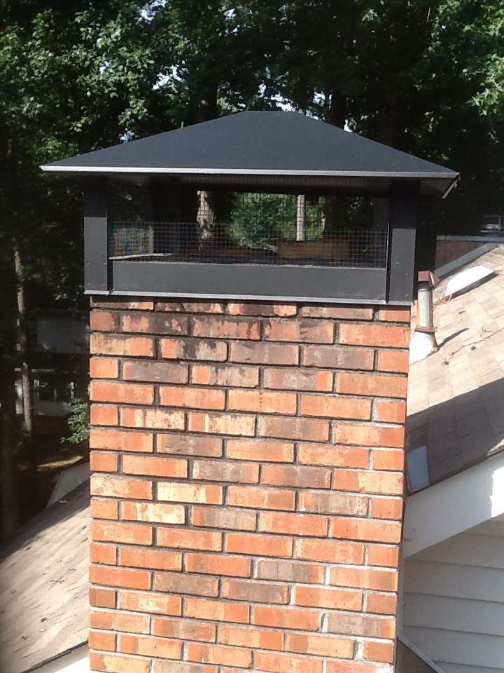 Gas Fireplace Chimney Caps : Chimney caps and rain pans mad hatter services