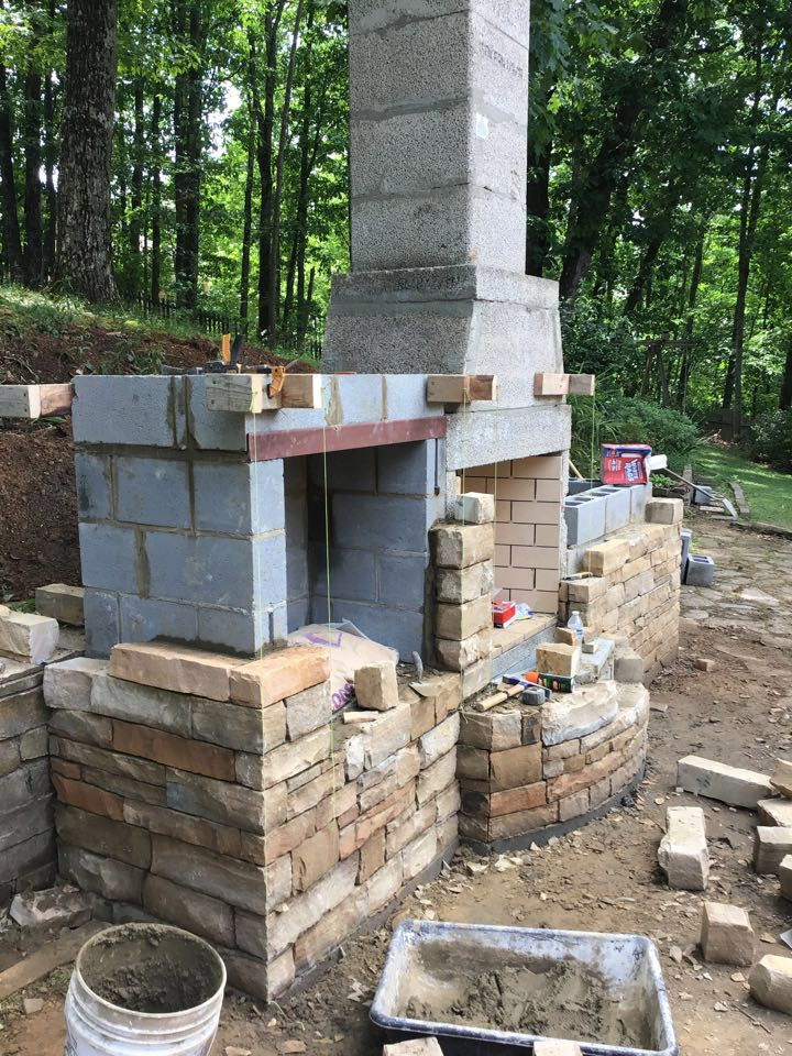 Outdoor Isokern Fireplace And Pizza Oven Project Mad